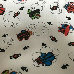 cream background aeroplanes fabric online