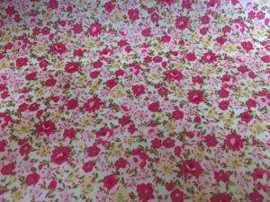small pink and yellow flowers dress fabric