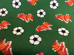 green background football fabric online
