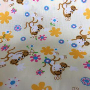 lemon background monkey fabric online