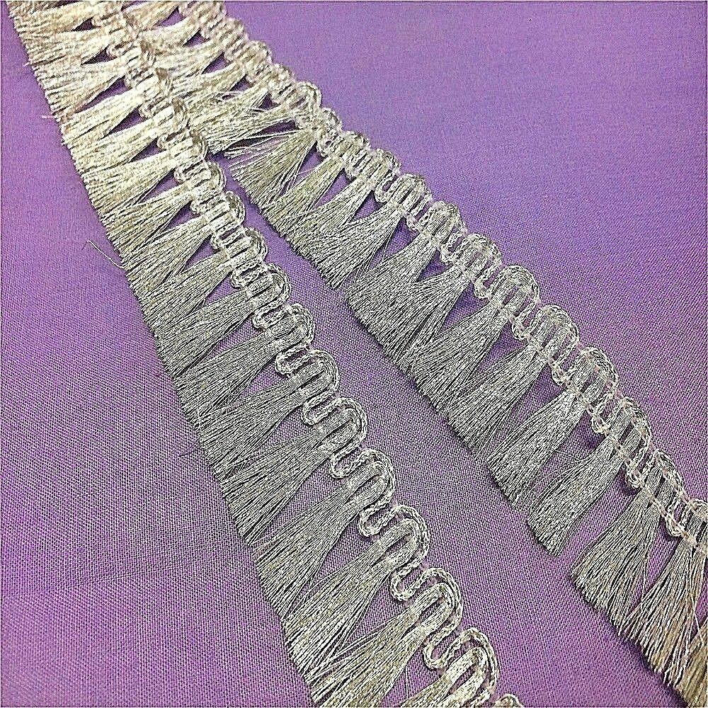 metallic silver trim