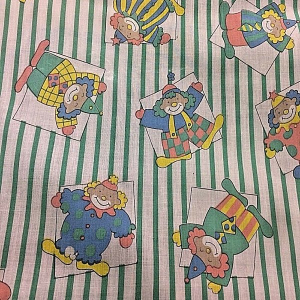 stripe background clown fabric