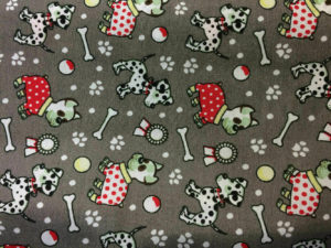 grey background dogs with coats fabric online