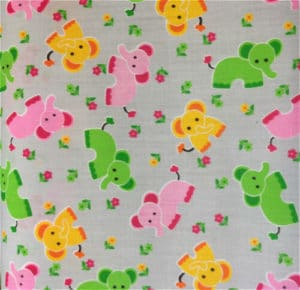 grey background elephants fabric online