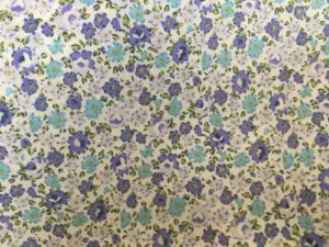 small purple and blue flowers dress fabric