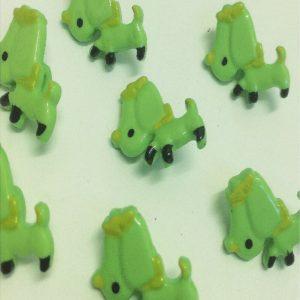 children green buttons in dog design