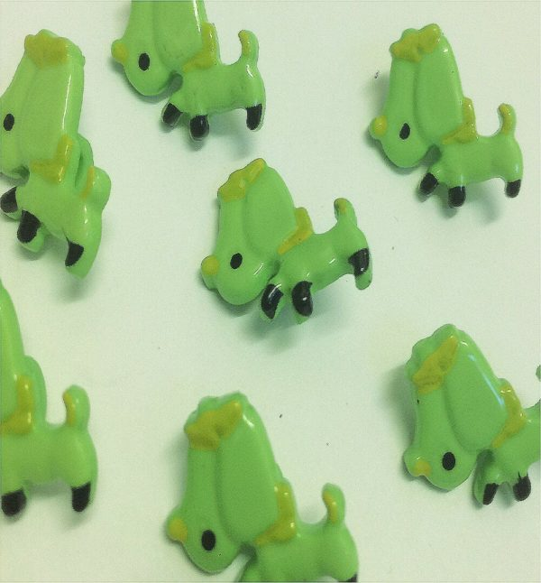 children green buttons in dog design