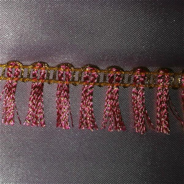 dark pink fringe decoration