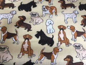 dog patterned fabric
