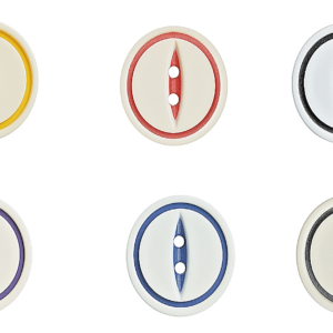round 2 hole buttons white with multiple colours