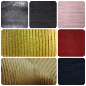 7 images of cord fabric close ups