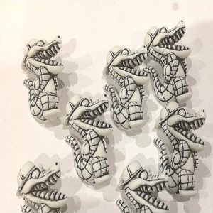 dinosaur 3d cover buttons - white