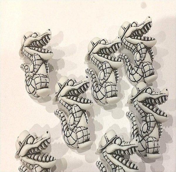 Dinosaur Fine Style Buttons