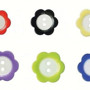 Floral Fine Style Buttons Choice Of Colours