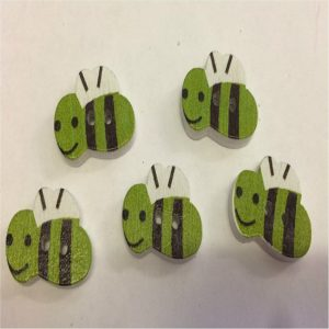 bumble bee green buttons