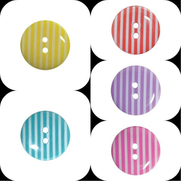 Round Striped Fine Style Buttons
