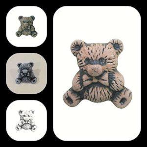 Teddy Bear Buttons Size 15mm