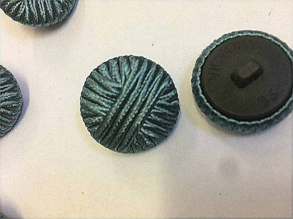 Cloth Covered Teal Fashion Designer Buttons Shank Buttons 25 mm