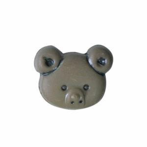 teddy face 15mm button
