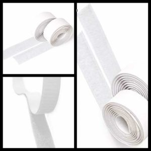 5 Metre Roll Hook and Loop Stick on velcro 20 mm Wide White