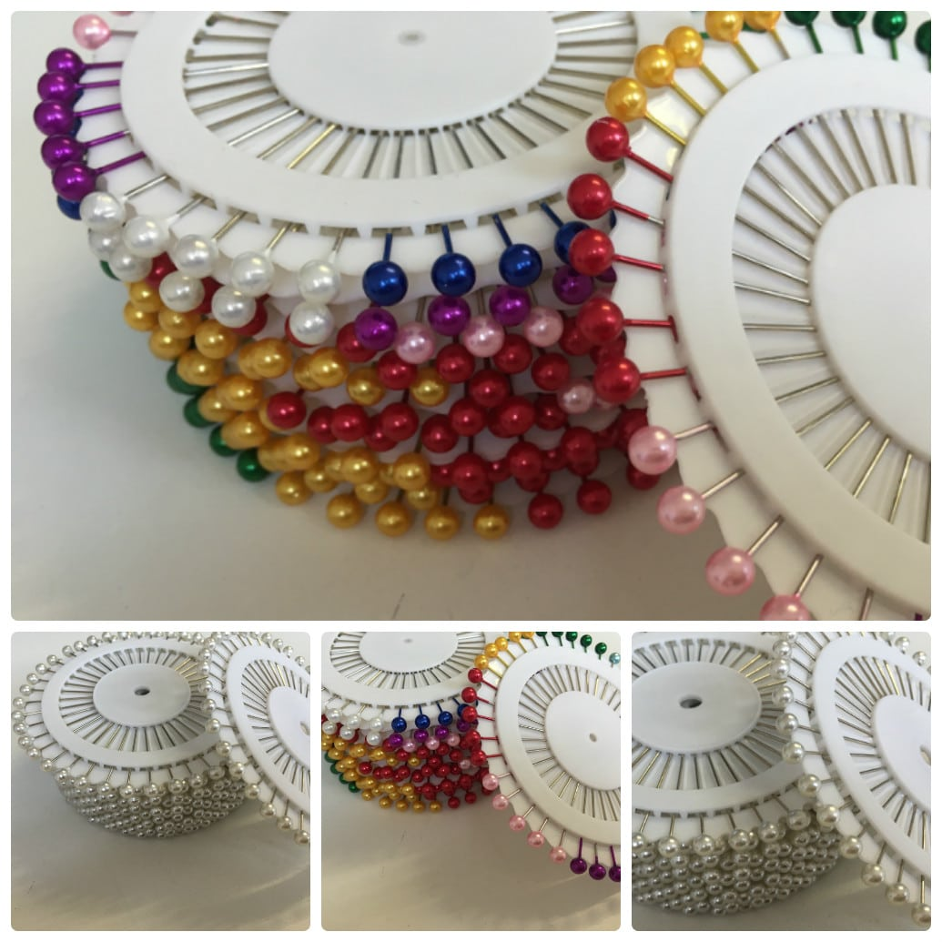 Plastic Headed Pins Assorted Colours 40 Per Reel or Wholesale Packs