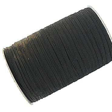 Black 12 Cord (10mm) Elastic Roll 150 Metres Wholesale Price