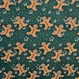 Gingerbread Christmas cotton dress fabric for craft wholesale fabrics