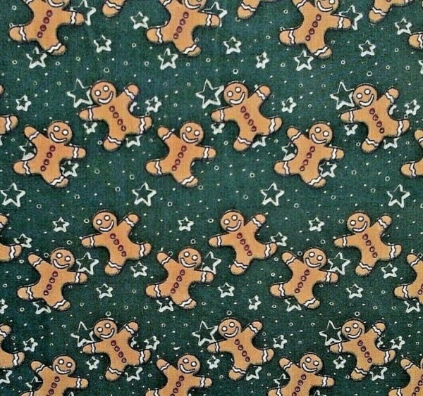 Gingerbread Christmas cotton dress fabric