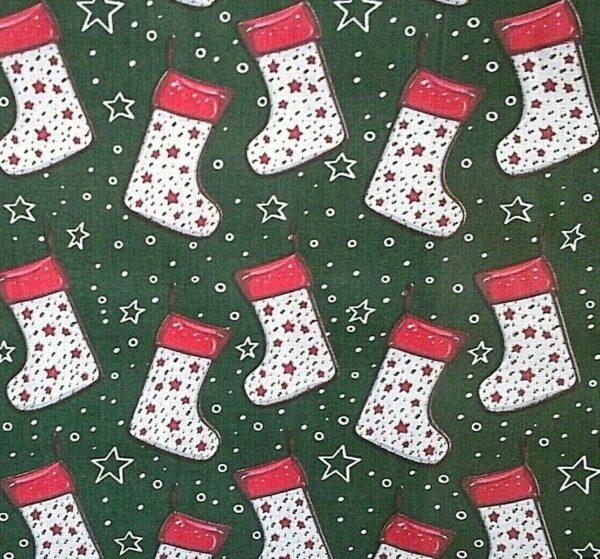 Christmas stockings cotton dress fabric for craft wholesale fabrics