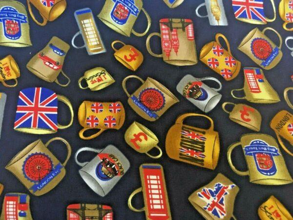 British Mugs cotton dress fabric for craft wholesale fabrics and dress making