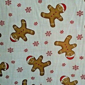 Gingerbread Christmas cotton dress fabric