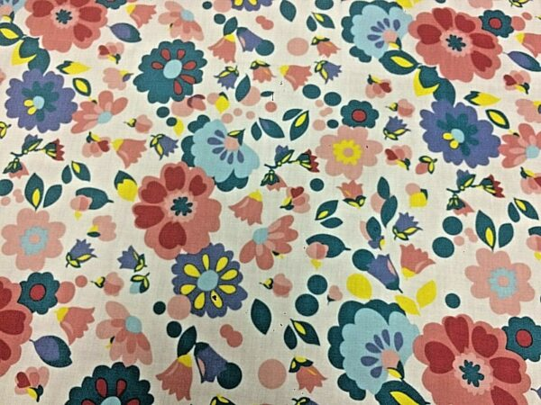 Floral cotton dress fabric