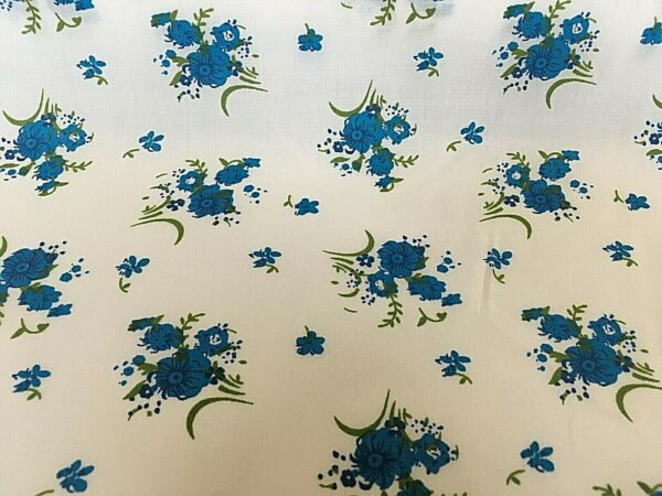 blue flower cotton dress fabric for craft wholesale fabrics and dress making