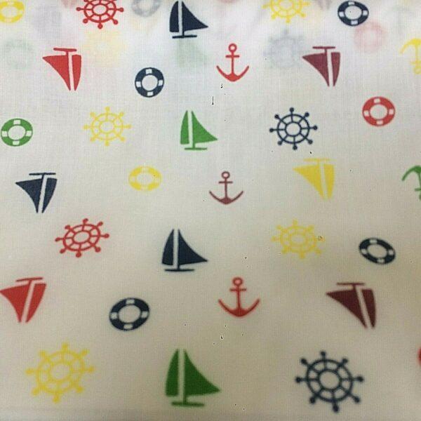 boat cotton dress fabric