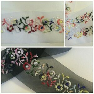 Floral trims for sewing