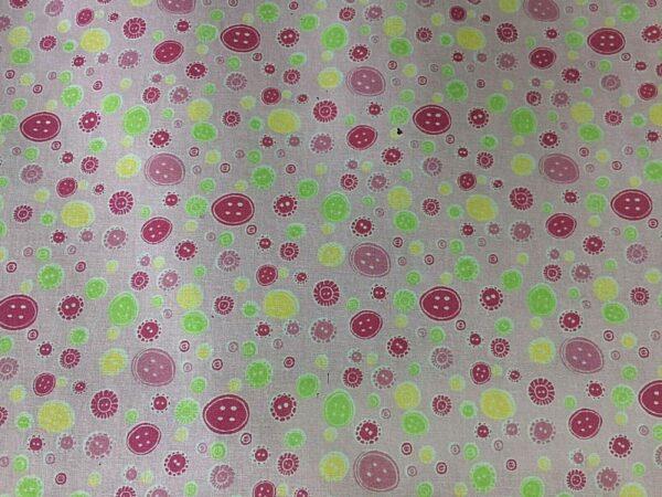 buttons cotton dress fabric