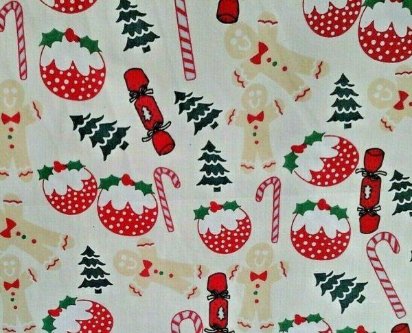 Christmas cotton dress fabric