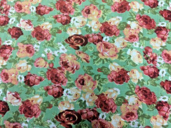 rose cotton dress fabric