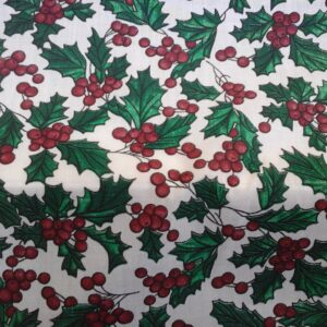 holly Christmas cotton dress fabric for craft wholesale dress making fabrics