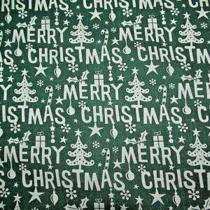 Green Merry Christmas cotton dress fabric for craft wholesale fabrics