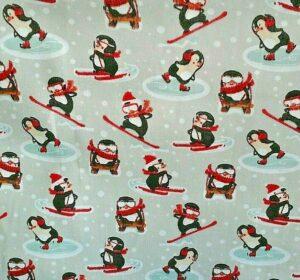penguin cotton dress fabric