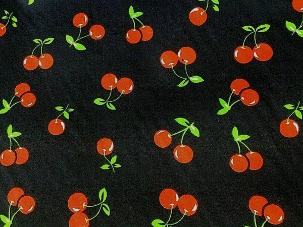 red cherry cotton dress fabric