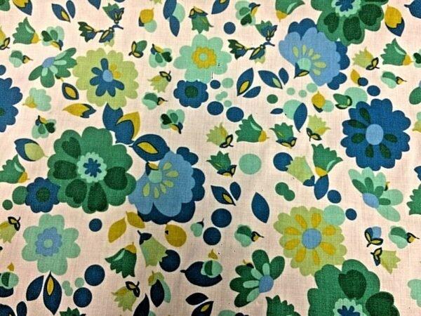 green flowers cotton dress fabric for craft wholesale fabrics and dress making