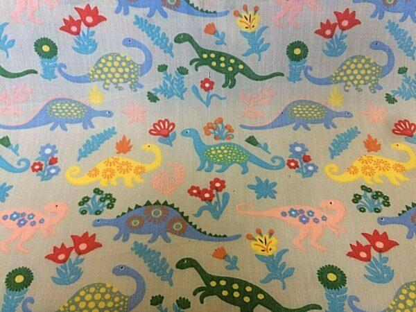 dinosaur cotton dress fabric