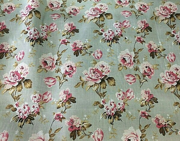 Rose cotton dress fabric