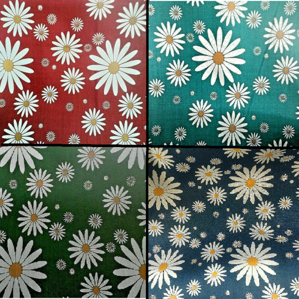 daisy poly cotton fabric