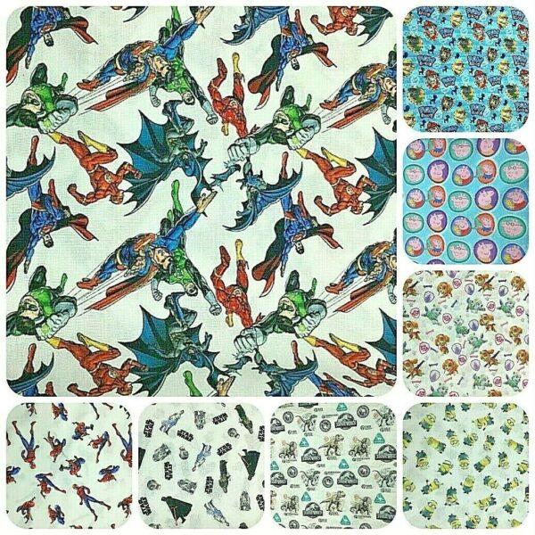 superhero and cartoon character fabric for craft wholesale fabrics
