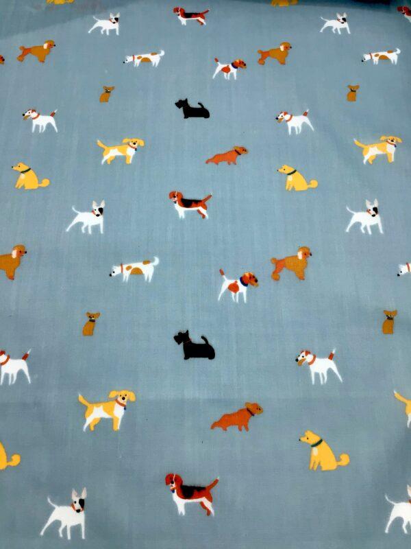 cartoon dogs polycotton fabric for craft wholesale design
