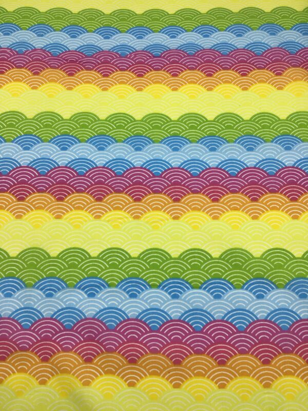 rainbow shaped and coloured polycotton fabric for craft wholesale dress making