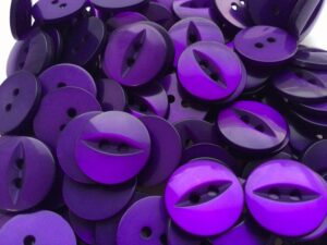 purple round fish eye buttons for craft wholesale haberdashery
